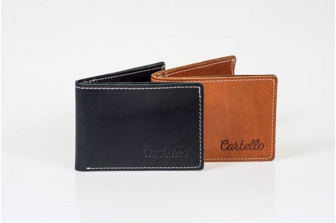 Skórzany mały portfel męski Cartello M033