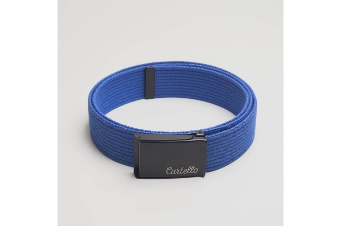 Pasek parciany bawełniany Cartello PB02 kolor niebieski