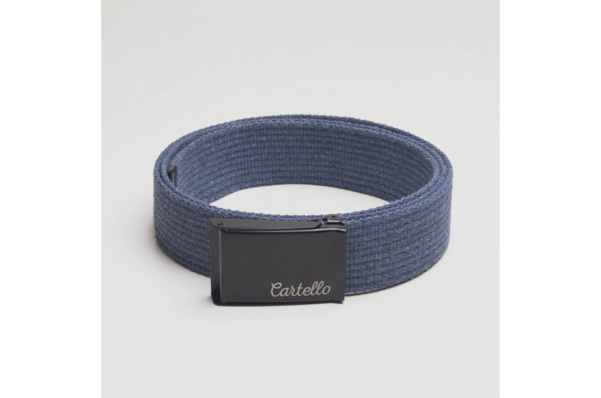Pasek parciany bawełniany Cartello PB02 PB08 kolor jeans
