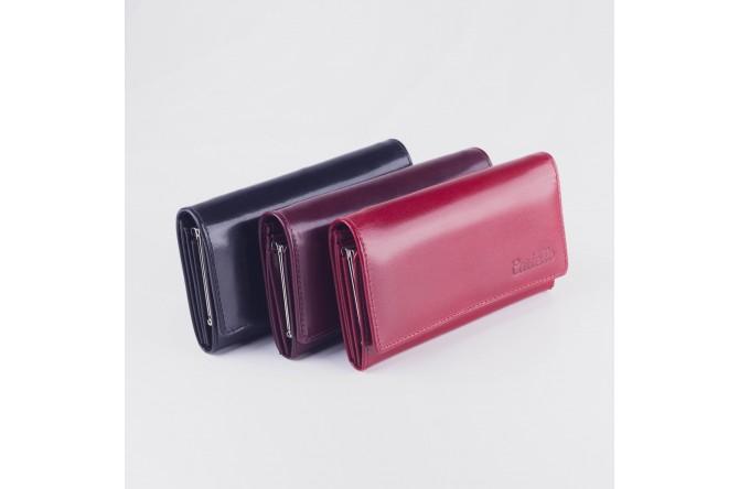 Skórzany portfel damski na bigiel Cartello D700